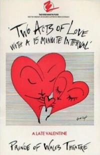 Programme from Two Acts of Love with a 15-minute Interval (1987) at the Prince of Wales Theatre, London (1)
