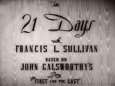 21 Days (1940) opening credits (2)
