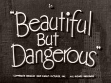 Beautiful But Dangerous (1954) opening credits