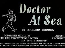 Doctor at Sea (1955) opening credits (4)