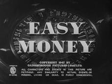 Easy Money (1948) opening credits