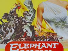 Poster from Elephant Walk (1953) (1). Elizabeth Taylor, the hotter than hot star of 'Suddenly Last Summer' burns up the screen!