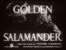 Main title from Golden Salamander (1950) (4). From the novel by Victor Canning. Copyright MCMXLIX by Pinewood Films Ltd