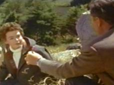 Barbara Rush (as Christian Tanner) and Stewart Granger (as Harry Black) in a screenshot from Harry Black (1958) (1)