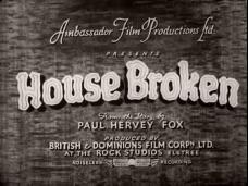 House Broken (1936) opening credits (1)