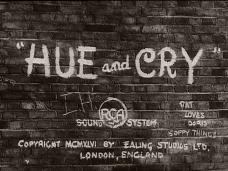 Hue and Cry opening credits (1947)
