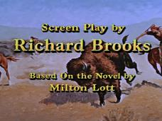 Main title from The Last Hunt (1956) (14). Screen play by Richard Brooks. Based on the novel by Milton Lott