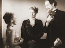 Joan Greenwood (as Christine Minetti), Margaret Clarke (as The Ballet Madame) and Beresford Egan (as Anton Minetti) in a screenshot from Latin Quarter (1945) (1)