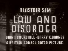 Law and Disorder (1940) opening credits