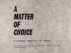 A Matter of Choice (1963) opening credits (4)