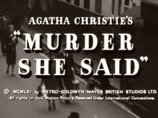 Main title from Murder She Said (1961) (5)  Agatha Christie's