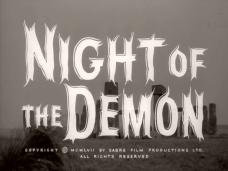 Main title from Night of the Demon (1957) (5)  Copyright 1957 by Sabre Film Productions Ltd  Al rights reserved