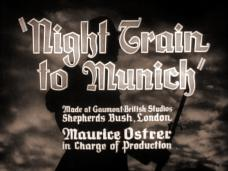 Night Train to Munich (1940) opening credits