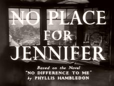 Main title from No Place for Jennifer (1950) (3)