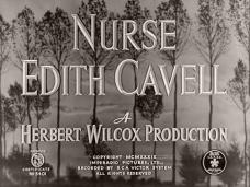 Main title from Nurse Edith Cavell (1939) (5). A Herbert Wilcox production
