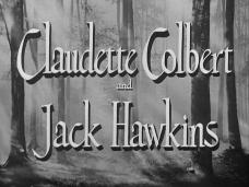 Main title from The Planter's Wife (1952) (3). Claudette Colbert and Jack Hawkins