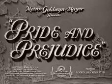 Pride and Prejudice (1940) opening credits
