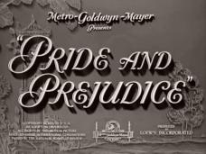 Pride and Prejudice (1940) opening credits