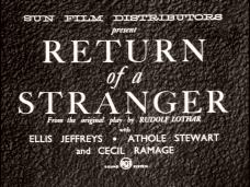 Return of a Stranger (1937) opening credits (1)