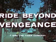 Main title from Ride Beyond Vengeance (1966) (4). (C) 1965, The Tiger Company