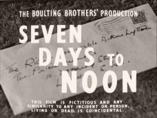 Seven Days to Noon (1950) opening credits (1)