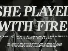 Fortune is a Woman (as She Played With Fire) 1957 opening credits