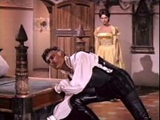 Stewart Granger (as Thomas Stanswood) and Sylva Koscina (as Orietta Arconti) in a screenshot from Swordsman of Siena (1962) (3)