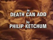 Main title from the 1982 episode of Tales of the Unexpected (1979-88), Death Can Add (1982) opening credits (5). By Philip Ketchum