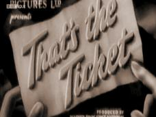 That's the Ticket (1940) opening credits