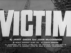 Victim (1961) opening credits