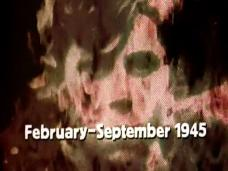 Main title from the 1974 'The Bomb' episode of The World at War (1973-1974) (2). February-September 1945