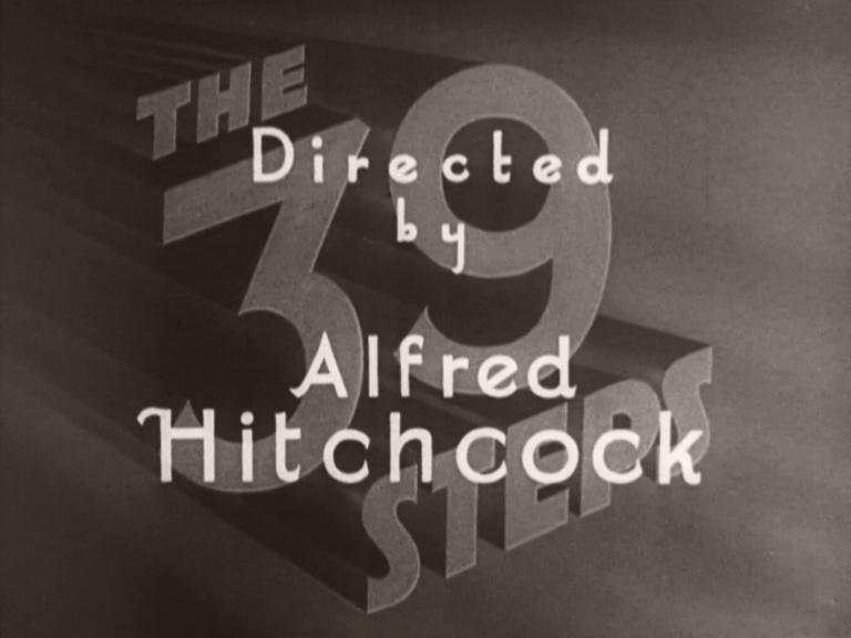 Main title from The 39 Steps (1935) (4). Directed by Alfred Hitchcock