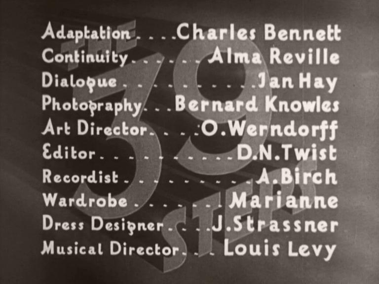 Main title from The 39 Steps (1935) (5)