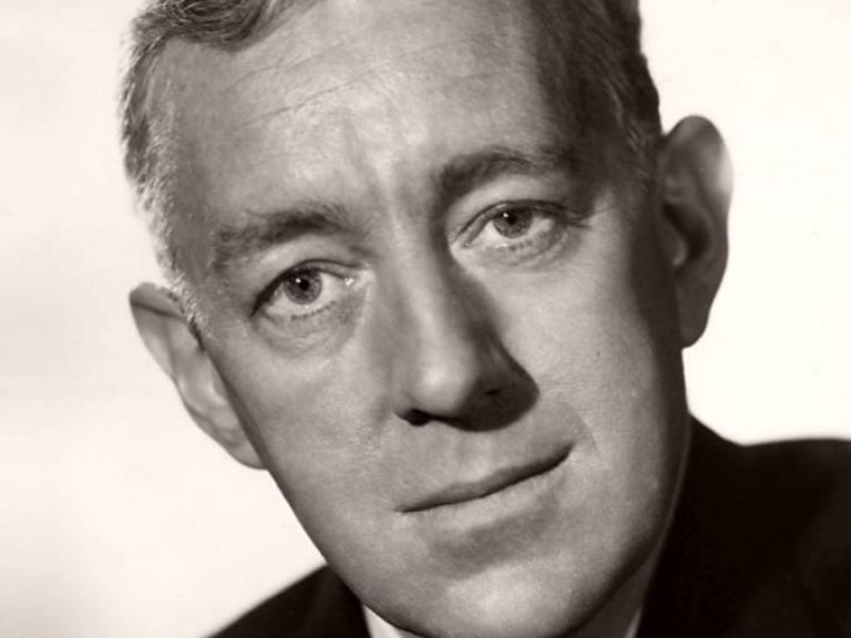 Promotional shot of distinguished British actor, Alec Guinness