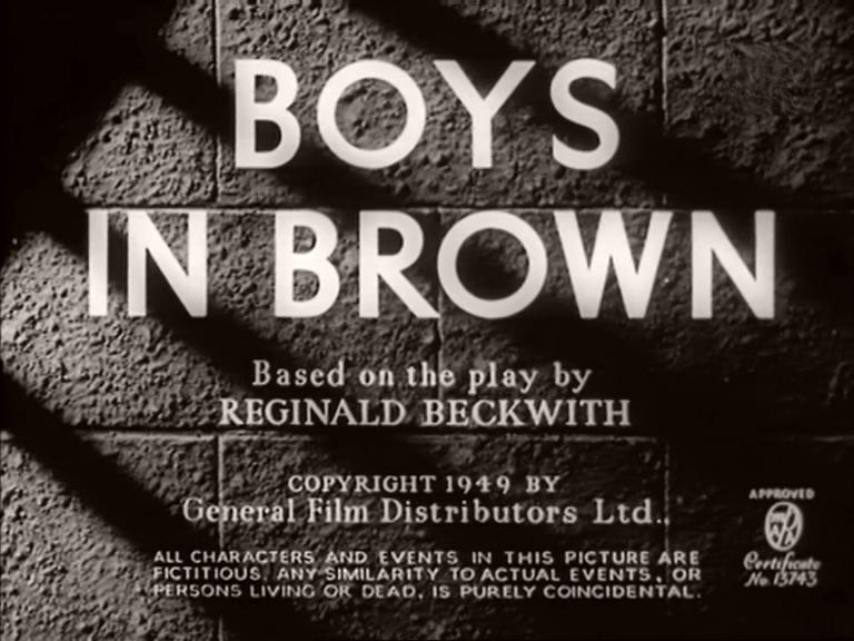 Main title from Boys in Brown (1949) (4)