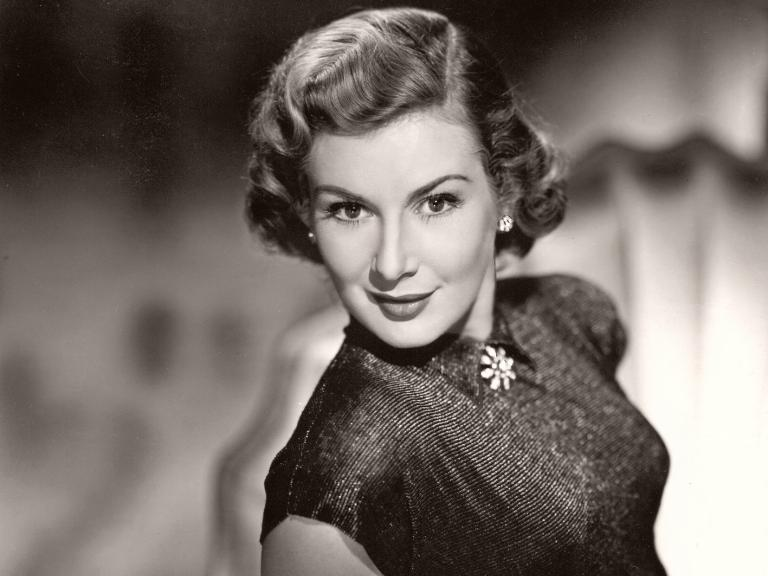 British actress, Dinah Sheridan, poses for a fashion shoot