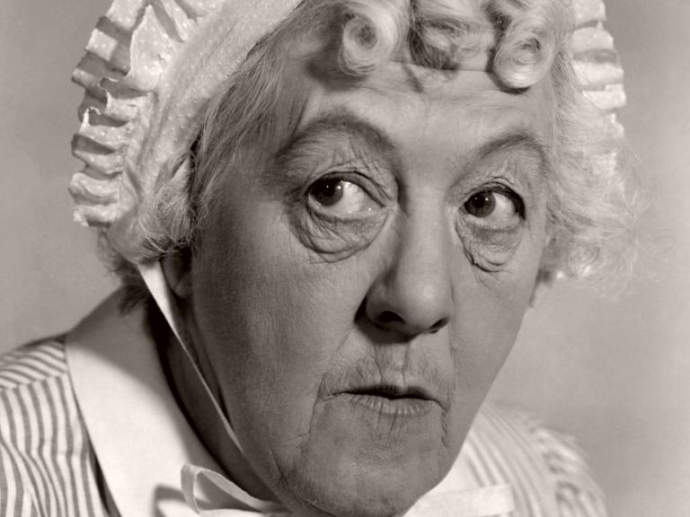 British comedy actress, Margaret Rutherford as Nurse Carey in Mad About Men (1954)