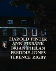 Main title from Accident (1967) (9).  Harold Pinter Ann Firbank, Brian Phelan, Freddie Jones, Terence Rigby