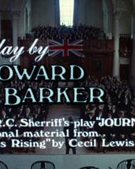 Main title from Aces High (1976) (16).  Screenplay by Howard Barker.  Based on R C Sherriff's play 'Journey's End' and additional material from 'Saggittarius Rising' by Cecil Lewis