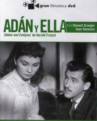 Jean Simmons (as Evelyne Wallace) and Stewart Granger (as Adam Black) in a Spanish DVD cover of Adam and Evelyne (1949) (2)