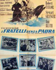 Italian poster for All the Brothers Were Valiant (1953) (1)