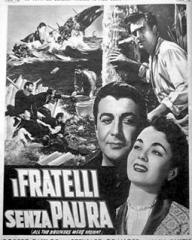 Robert Taylor (as Joel Shore) and Ann Blyth (as Priscilla 'Pris' Holt) in an Italian poster for All the Brothers Were Valiant (1953) (2)