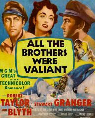Poster for All the Brothers Were Valiant (1953) (1)