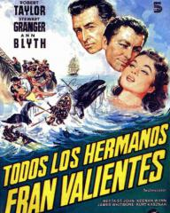 Spanish poster for All the Brothers Were Valiant (1953) (1)
