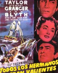 Spanish poster for All the Brothers Were Valiant (1953) (2)