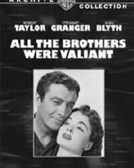 Robert Taylor (as Joel Shore) and Ann Blyth (as Priscilla 'Pris' Holt) in a video cover from All the Brothers Were Valiant (1953) (1)