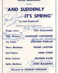 Programme from And Suddenly It's Spring (1959) at the Duke of York's Theatre, London (2)