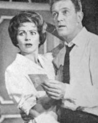 Margaret Lockwood (as Sally Seymour) and John Stone (as Ford Baxter) in a photograph from And Suddenly It's Spring (1959) (1)