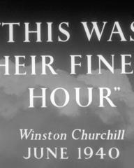 Main title from Angels One Five (1952) (15).  'This was their finest hour' Winston Churchill, June 1940