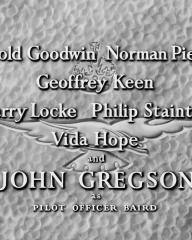 Main title from Angels One Five (1952) (6).  Philip Stainton and John Gregson as Pilot Officer Baird